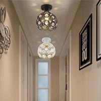 Nordic Led K9 Lamp Individual Creative Crystal Bedroom Ceiling Lights Hallway Lantern American Restaurant Celling Light