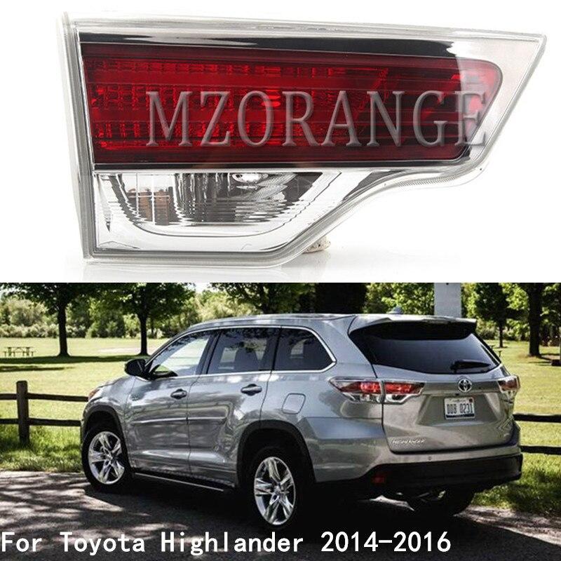MZORANGE luz trasera parte interior para Toyota Highlander 2014 2015 2016 luz de freno trasera