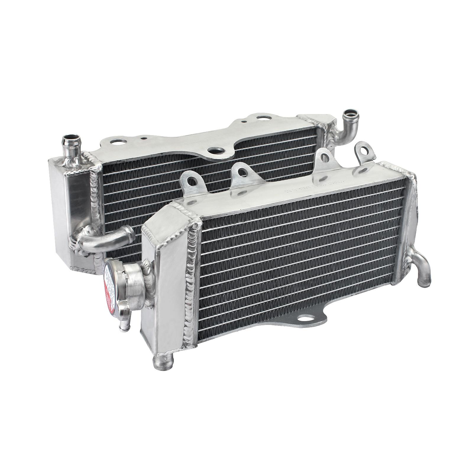 Radiadores de refrigeración de agua de motor de aluminio BIKINGBOY MX para Yamaha YZ 125 WR 125 YZ125 WR125 02 03 04 2002 2003 2004