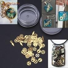 120Pcs Mixed Steampunk Cogs Gear Clock Charm UV Frame Resin Jewelry Fillings DIY JUL3