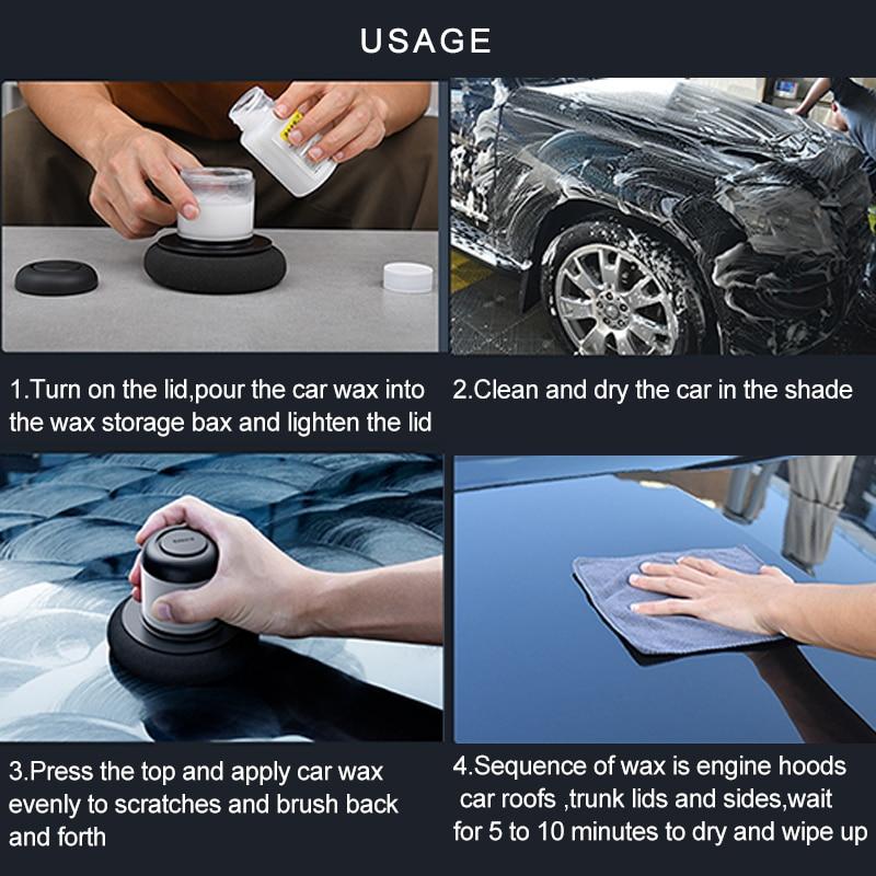 Baseus Car Polisher Scratch Repair Auto Polishing Machine Car Paint Care Clean Waxing Tools Car Accessories Auto Detailing