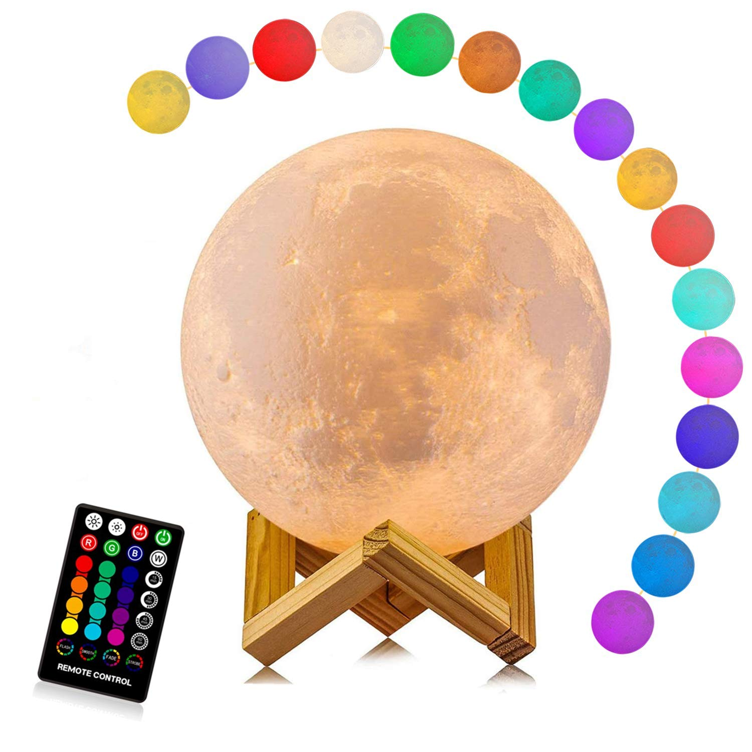 3d lamp fortnite game chug jug scar rocket launcher gliding led night light 7 color change touch mood lamp ZK22 Children's Lights Night Lamp LED Night Light 3D Print Moon Lamp Rechargeable Color Change 3D Light Touch Moon Lamp for Home