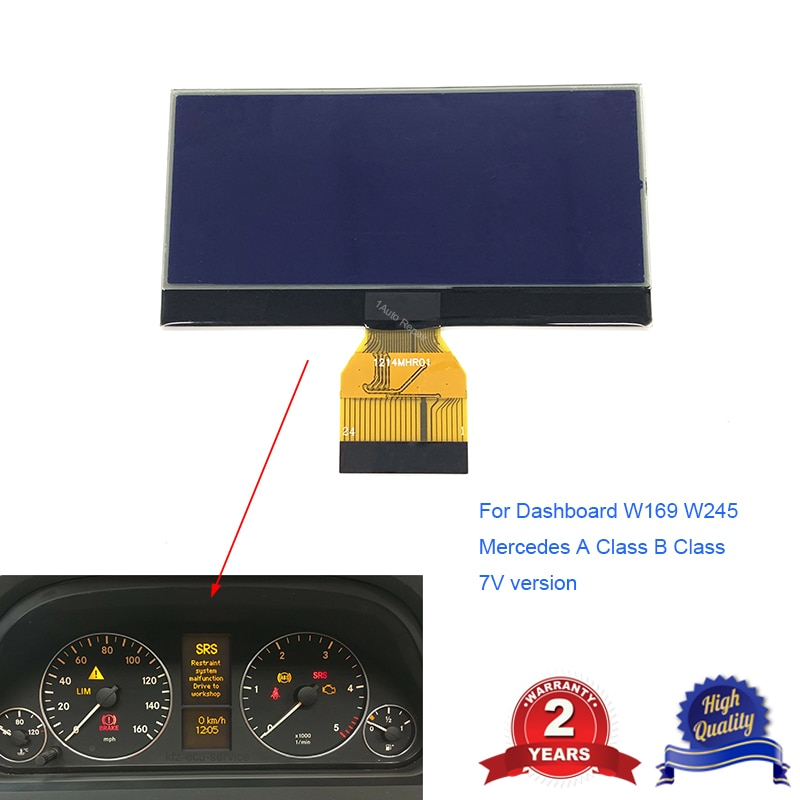 Painel de INSTRUMENTOS DISPLAY LCD TELA PARA MERCEDES CLASSE A B W169 W245 7V A1695400448 VELOCÍMETRO DASHBOARD 0263643242