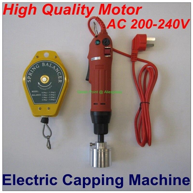 أحمر ColorTool يده الكهربائية السد آلة المسمار كابر زجاجة بلاستيكية السد آلة الكهربائية مفك ل 10-50 مللي متر غطاء