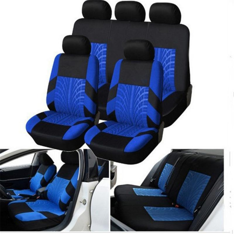 100% Breathable Car Seat Covers Pcs Full Set Universal Truck SUV Fashionable...