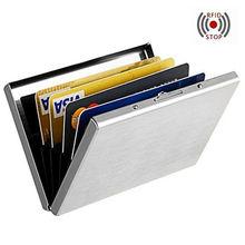 Anti-scan Stainless Steel Case Slim Blocking Wallet ID Credit Cards Holder