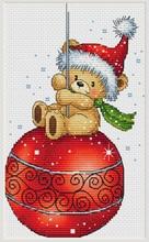تي ملم مجموعة ذهبية عد عبر الابره عدة عبر الابره RS القطن مع عبر الابره تيدي تحلق طائرة ورقية عيد الميلاد الدب
