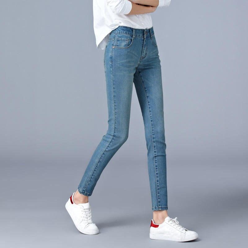 Pantalones vaqueros de cintura alta mujeres estiramiento pantalones vaqueros de estilo boyfriend para Mujer Ropa Denim lápiz pantalones vaqueros tamaño grande mamá Ropa Mujer Q2318