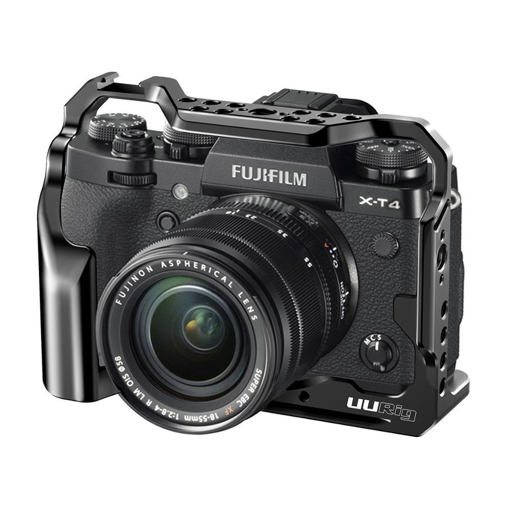 UURig, C-XT4, jaula para cámara para FUJIFILM X-T4, montaje de cámara, jaula completa con agujeros de rosca Mutiful