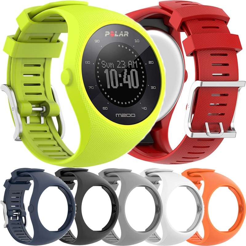 Sport Silicone Wristband Straps for Polar M200 GPS Sports Smartwatch Replacement Watchband Bracelet