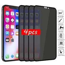 1-4Pcs Privacy Tempered Glass Screen Protector for IPhone 12 Pro Max 13 11 6 6s 7 8 Plus Anti-spy Glass on IPhone XS MAX X XR