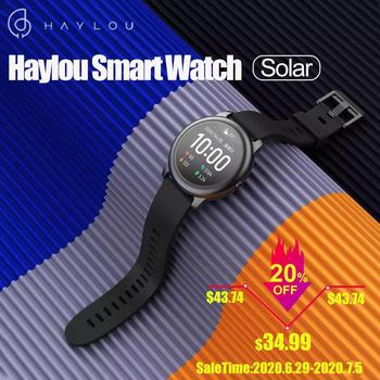 Haylou Solar LS05 Smart Watch Full Round Screen Heart Rate Monitor Bracelet Long Standby Sport Modes Smartwatch for Men Women