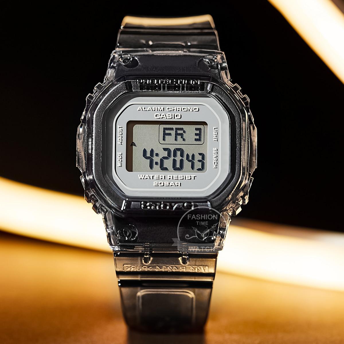 Casio watch BABY-G Women's quartz sports watch fashion Transparent small square table waterproof Watch Relogio Masculino  BGD560 enlarge