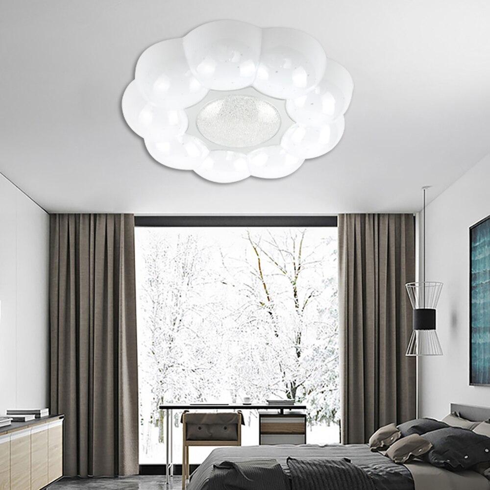 VIPMOON Modern Design Fixture Panel White Round LED Ceiling Light Suitable For Bathroom Living room Kitchen AC 220V 18W
