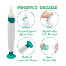 Ear Wax Remover Q Grip Ear Cleaning Tool Kit With Suction Cup Bottom Ear Wax Cleaner 16pcs Replaceme