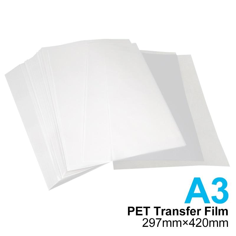 20 قطعة شحن مجاني A3 PET نقل فيلم للنقل المباشر طبع أغشية ل DTF حبر الطباعة PET طبع أغشية لإبسون