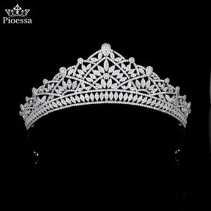 New Hair Accessories High End Luxury Wedding Zircon Crown Wedding Headdress Evening Dress Wedding Dress Engagement Accessories