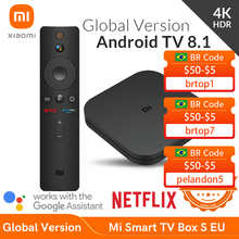 Глобальная версия Xiaomi Mi Smart TV Box S 4K HDR Android TV Streaming Media Player и Google Assistant Remote Smart TV MiBox S
