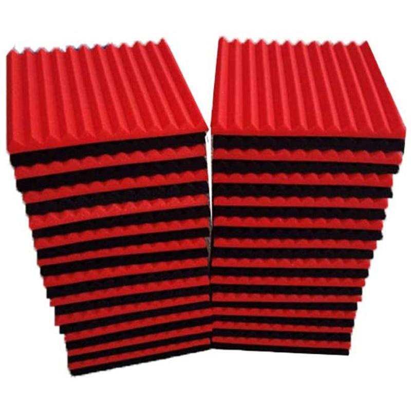 48 قطعة عزل الصوت مجلس لوحة الصوتية استوديو خابور من الفوم حريق عازلة للصوت وسادة سبورة حائط ، 2.5x30x30 سنتيمتر