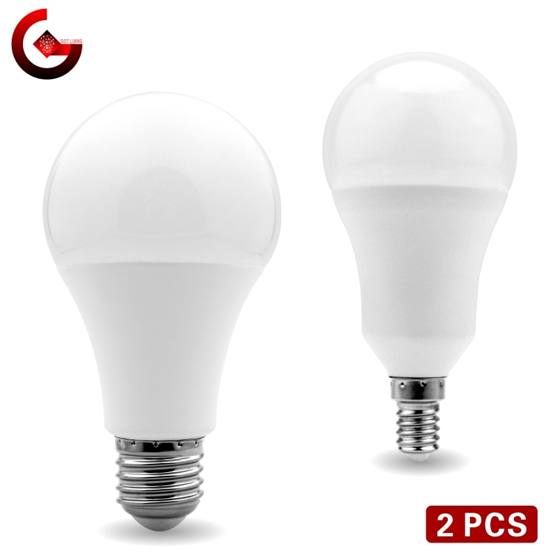 ​2pcs/lot LED Bulb E27 E14 20W 18W 15W 12W 9W 6W 3W Lampada LED Light AC 220V Bombilla Spotlight L