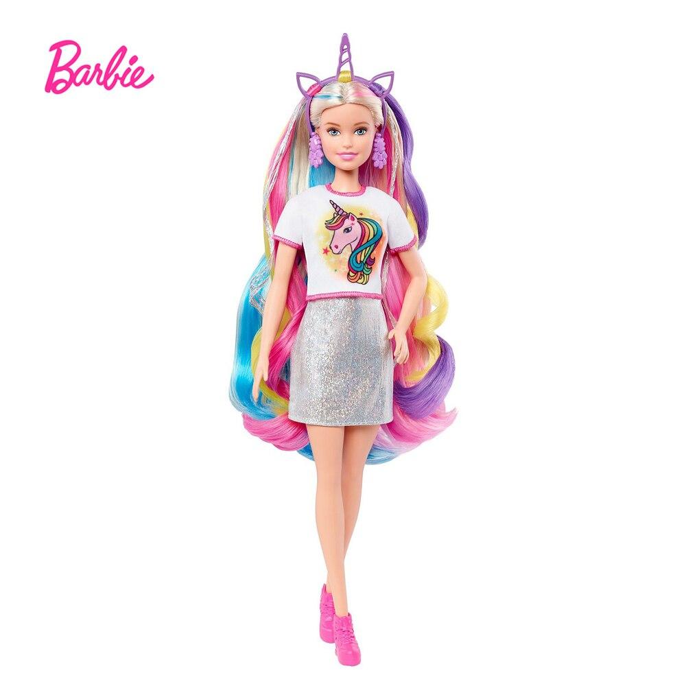 Muñeca de pelo de fantasía de Barbie, con apariencia de sirena y...