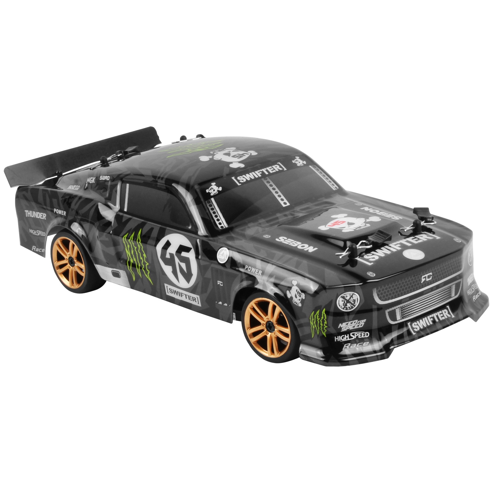 JTY Toys RC Car 4WD 1:18 Scale Stunt Drift Racing Upgrade With Light 46km/h High Speed Radio Remote Control Cars For Children enlarge