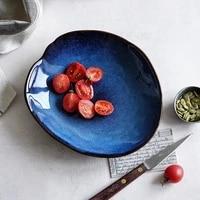 nordic ins kiln change ceramic tableware hotel restaurant irregular plate sushi steak dinner plate home plate bowls and plates