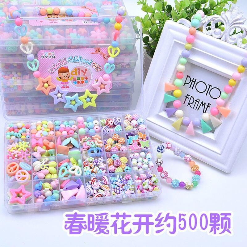Juguete de cuentas N0002 para manualidades, juego DIY, collar con cuentas de puzle Diy, juguetes para niñas, regalo de cumpleaños y Navidad