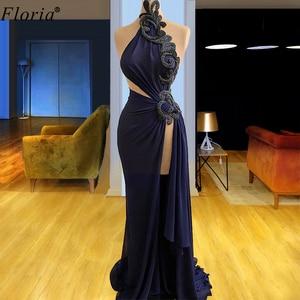 Robe De Soiree Plus Size Formal Evening Dresses Sleeveless Mermaid Evening Gowns Halter Elegant Prom Dresses Evening Wear Custom