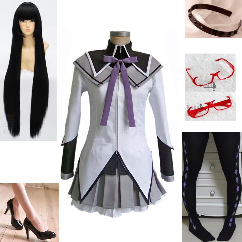 Puella Magi Madoka Magica Akemi Homura Cosplay Costume Custom Any Size