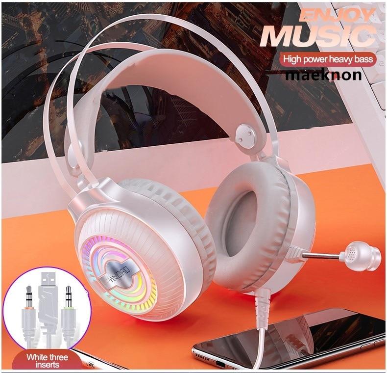 Fone de ouvido com fio para pc gamer e ps4, 3.5mm, fones, som ambiente, microfone hd, ouvir, escutar, portátil, table