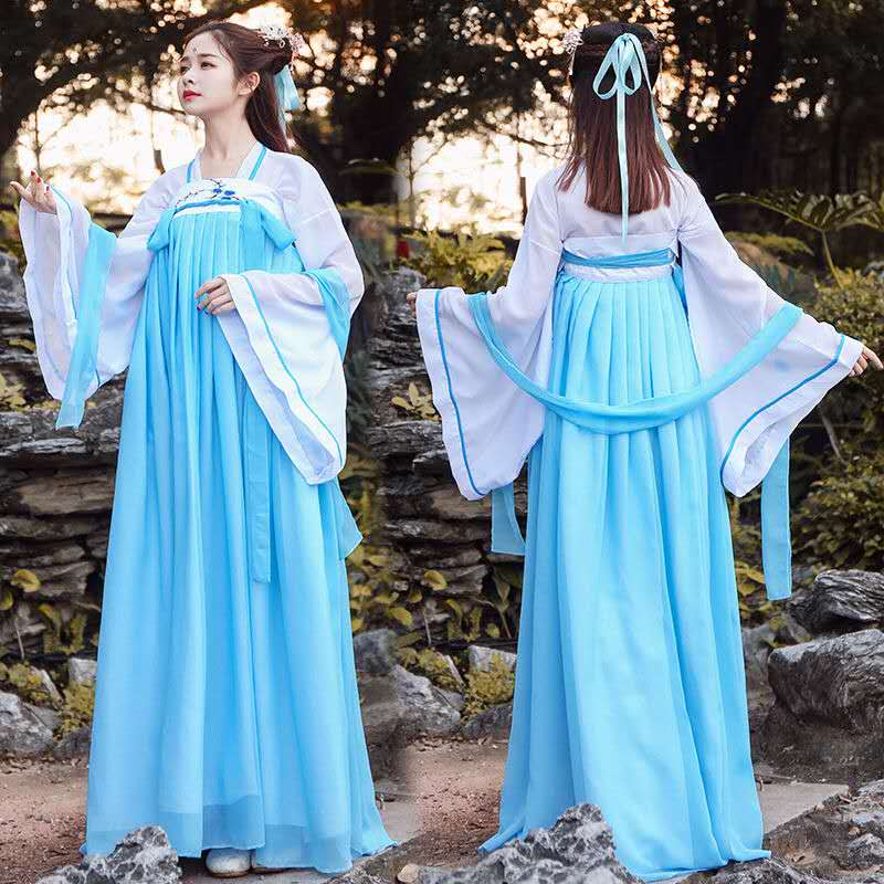 Women Hanfu Dress Tang Suit Set Fairy Girls Ancient Classical Dance Costume Female Hanfu Dress Stage Performance Outfit newly halloween female death dress terror skull role playing suit cloak stage costume for women te889