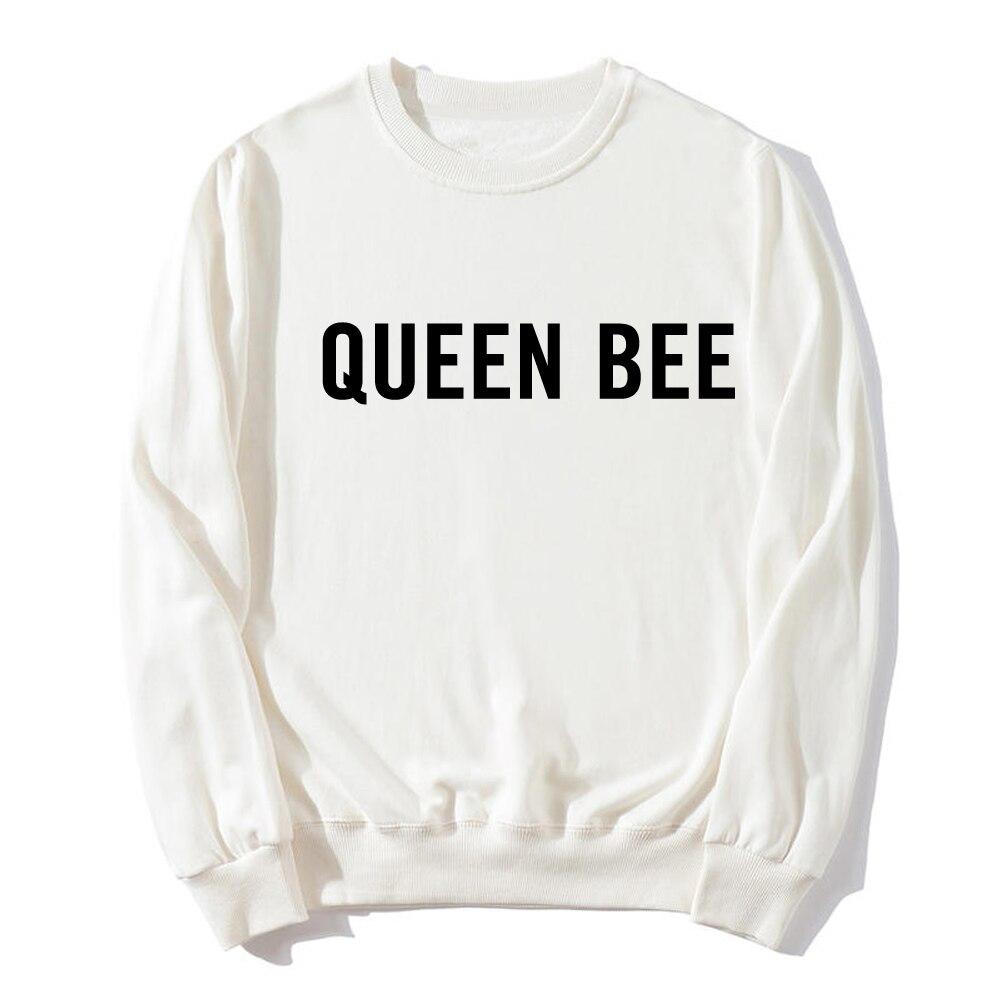 Nouveaux hauts chauds femmes Beyonce blanc reine abeille une histoire noir et blanc blouson à capuche décontracté survêtement ample dames