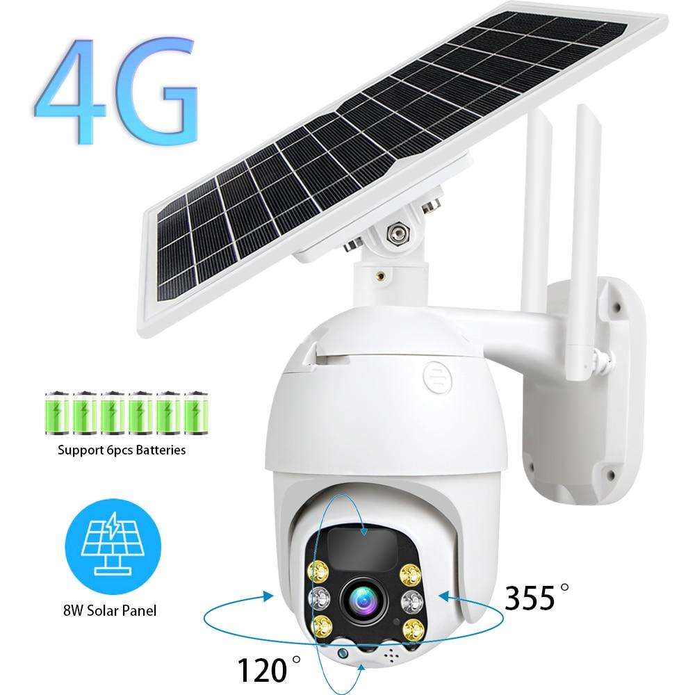 3G 4G IP Камера, Wi Fi, CCTV, Камера на открытом воздухе 1080P 8 Вт Панели солнечные Перезаряжаемые Батарея приведенный в действие герметизирующая ptfe лента для безопасности Камера 10 м движения PIR P2P