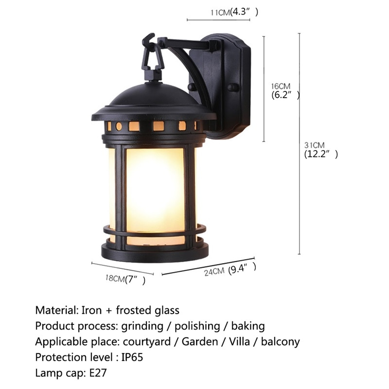 DLMH Outdoor Retro Wall Lamp Classical Sconces Light Waterproof IP65 LED For Home Porch Villa enlarge