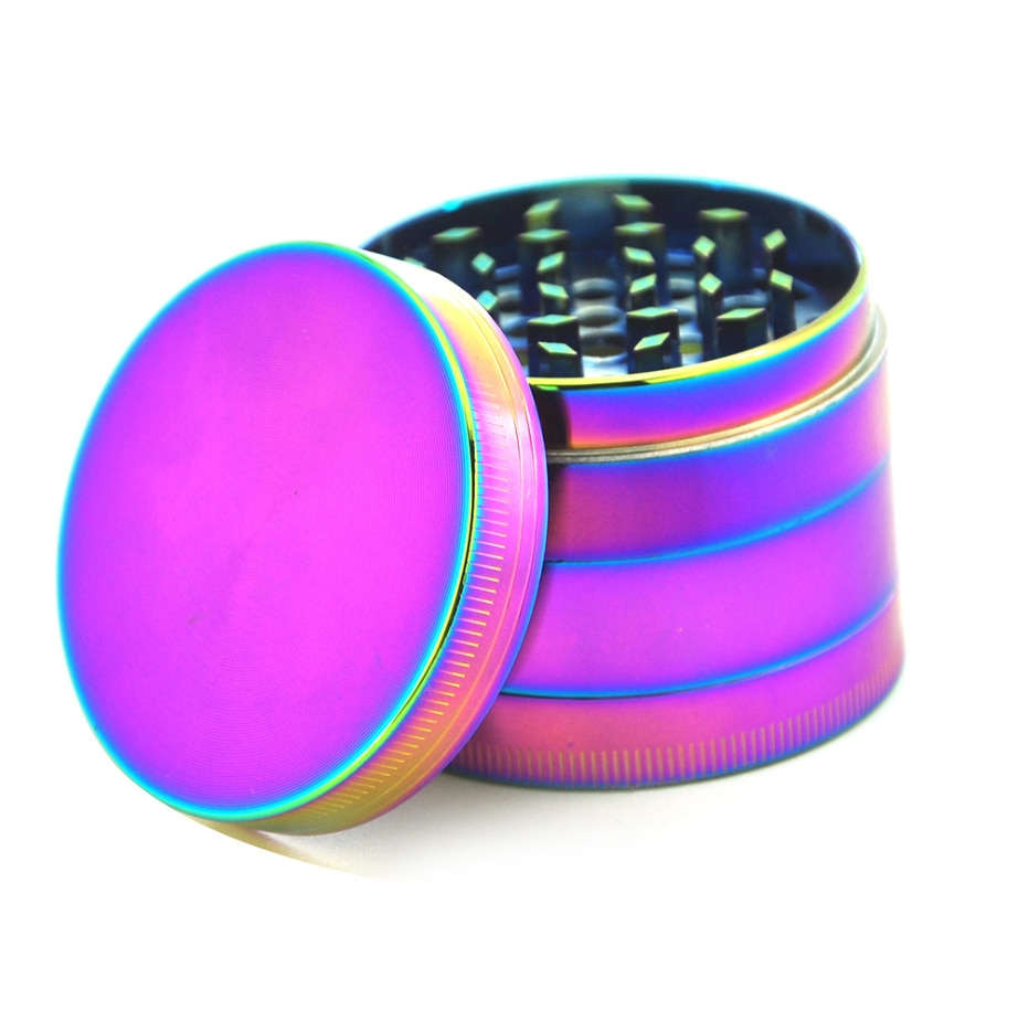 Herb Tobacco Grinder Weed Aluminum 4 Pieces 40mm Smoke Crusher Cannabis Handmade Machine Accessories enlarge