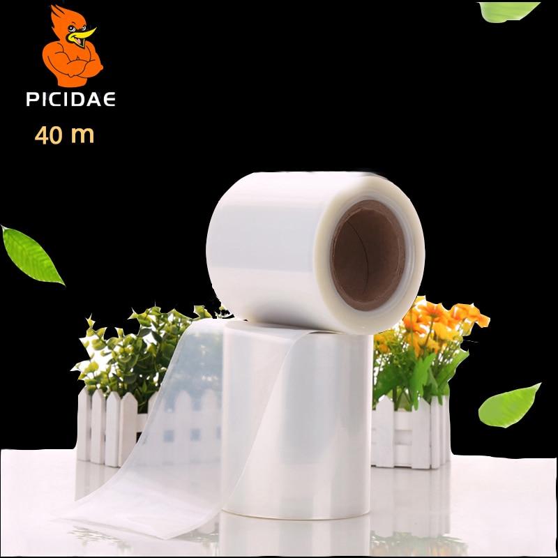 40m food Storage Keep it fresh Glossy Straight Clipping plastic Free Heat seal Plastic seal film White reel vacuum bag package