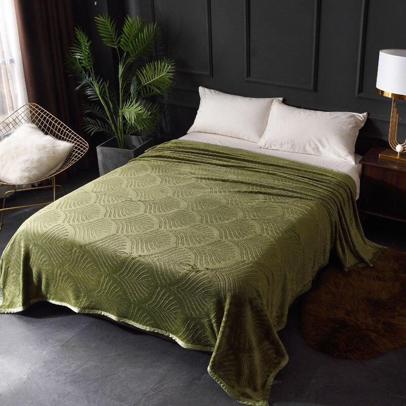Yaapeet 1 قطعة بلون لينة بطانية مصنع المطبوعة الفاخرة السرير انتشار أنيقة جميلة السرير غطاء المنزل الدافئة سمك رمي بطانية