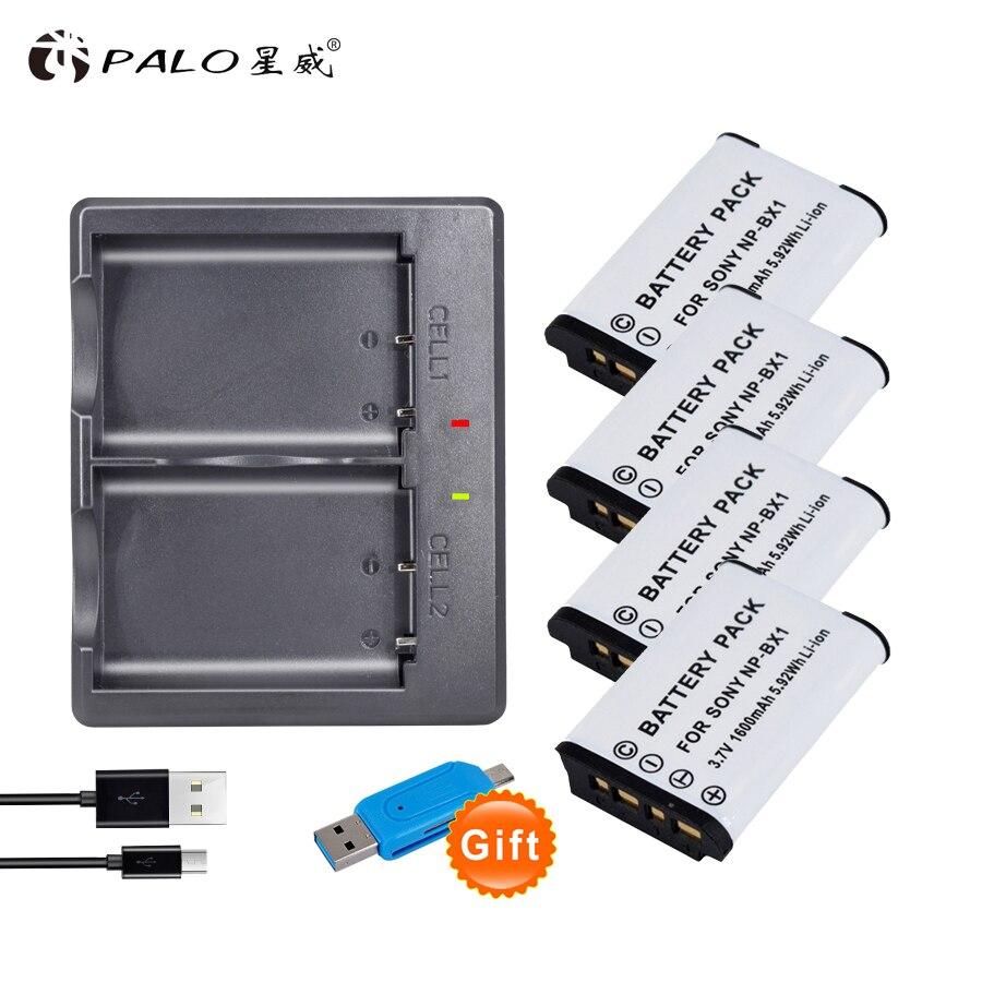 1-4 Uds NP-BX1 NPBX1 NP BX1 batería + cargador USB para Sony...
