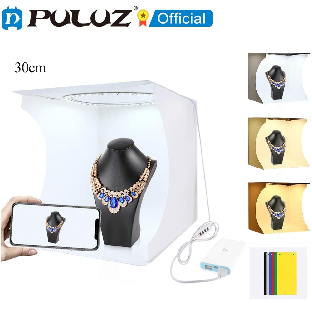 PULUZ-Anillo de luz plegable porttil de 30cm Kit de iluminación para estudio...