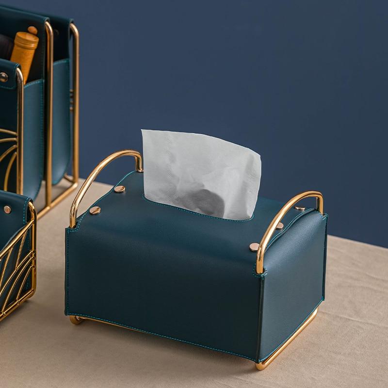 الشمال الجلود الأنسجة صناديق الحلي الفاخرة عينة الإبداعية سيارة ورقة تخزين الأنسجة صناديق غرفة منظم صندوق ديكور المنزل DG50TB
