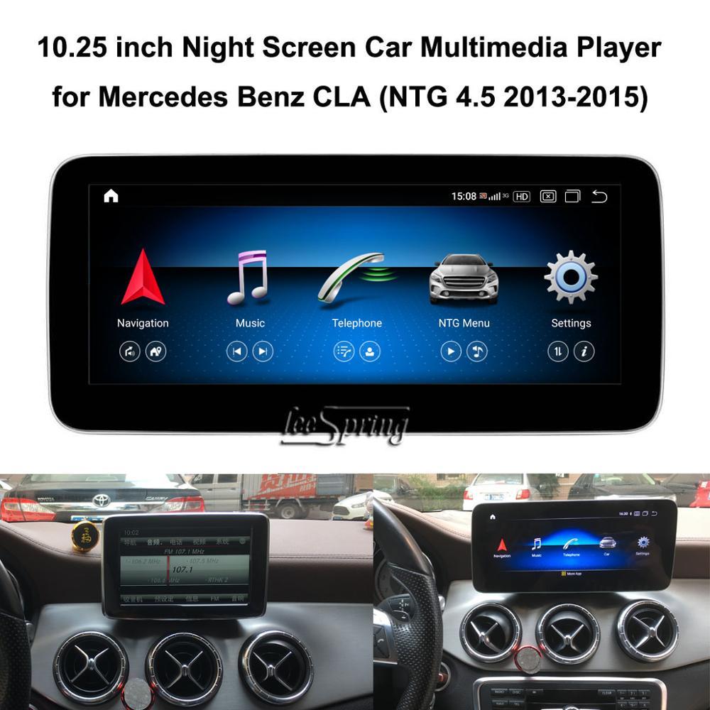 10.25 Inch Touch Screen Android 10.0 Auto Multimedia Speler Voor Mercedes-Benz Cla C117 X117 NTG4.5 5.0 2013-2019