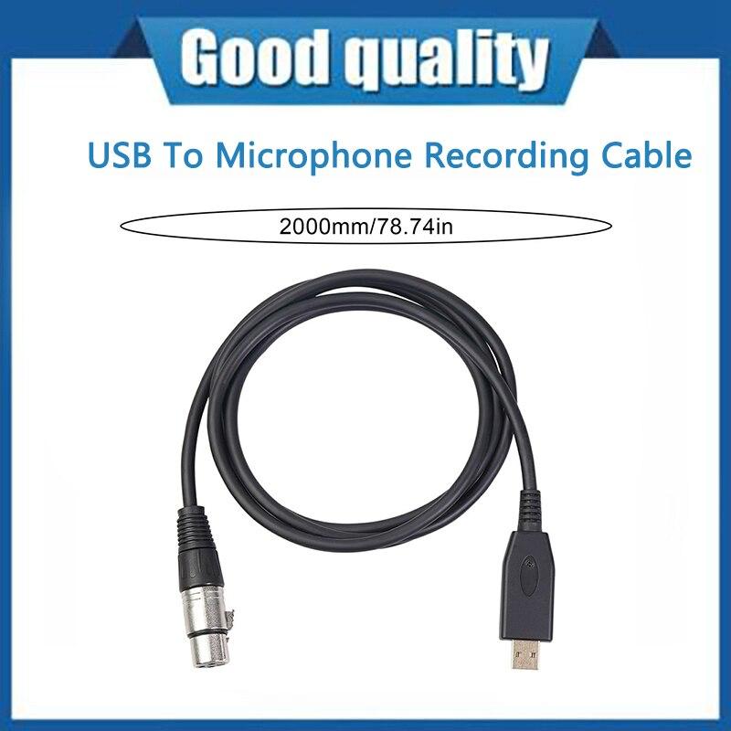 Cable de grabación USB a micrófono, adaptador de Cable de Audio para...