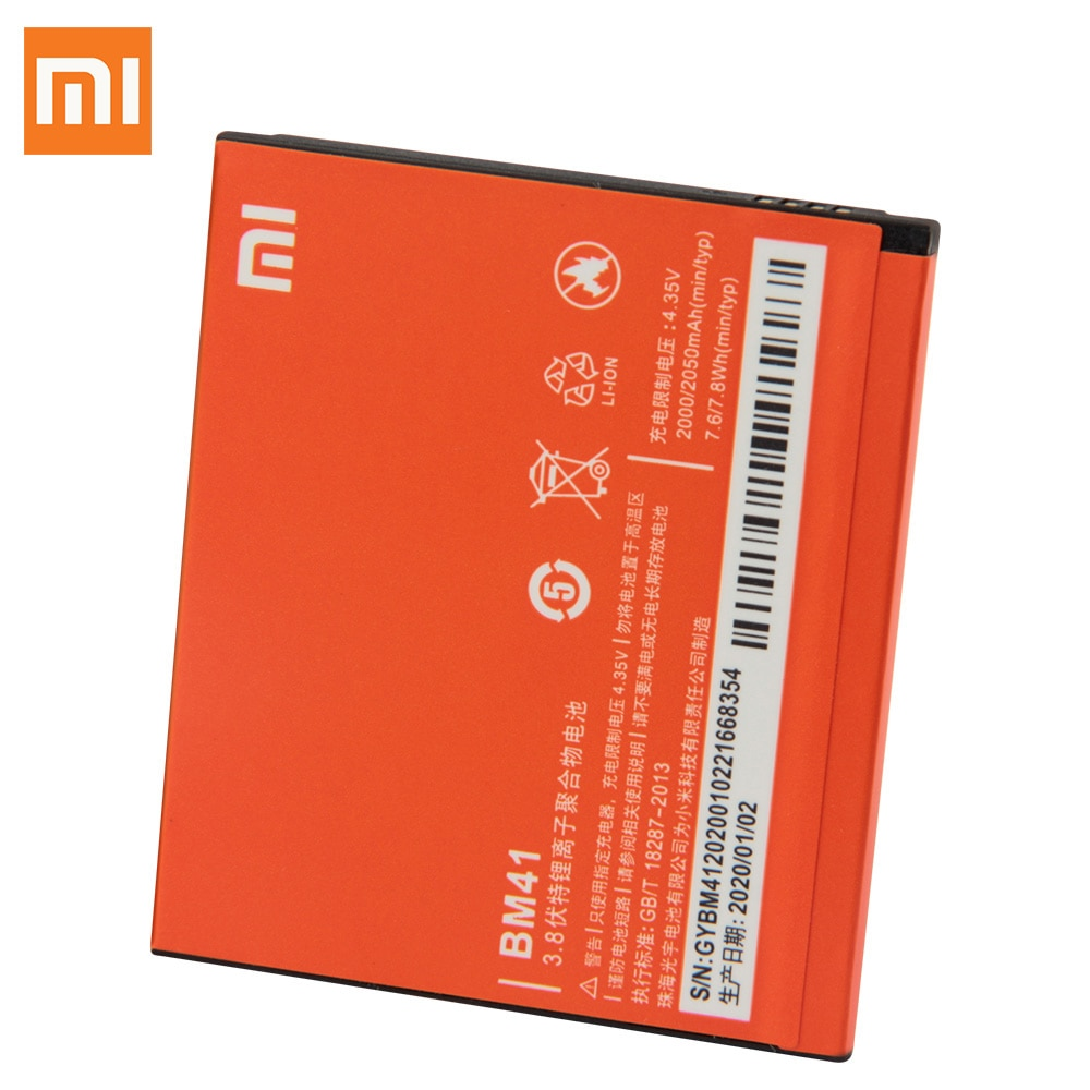 Original Replacement Battery For Xiaomi Mi Redmi 1S Redmi 2 2A BM41 Genuine Phone Battery BM40 BM44 2050mAh enlarge