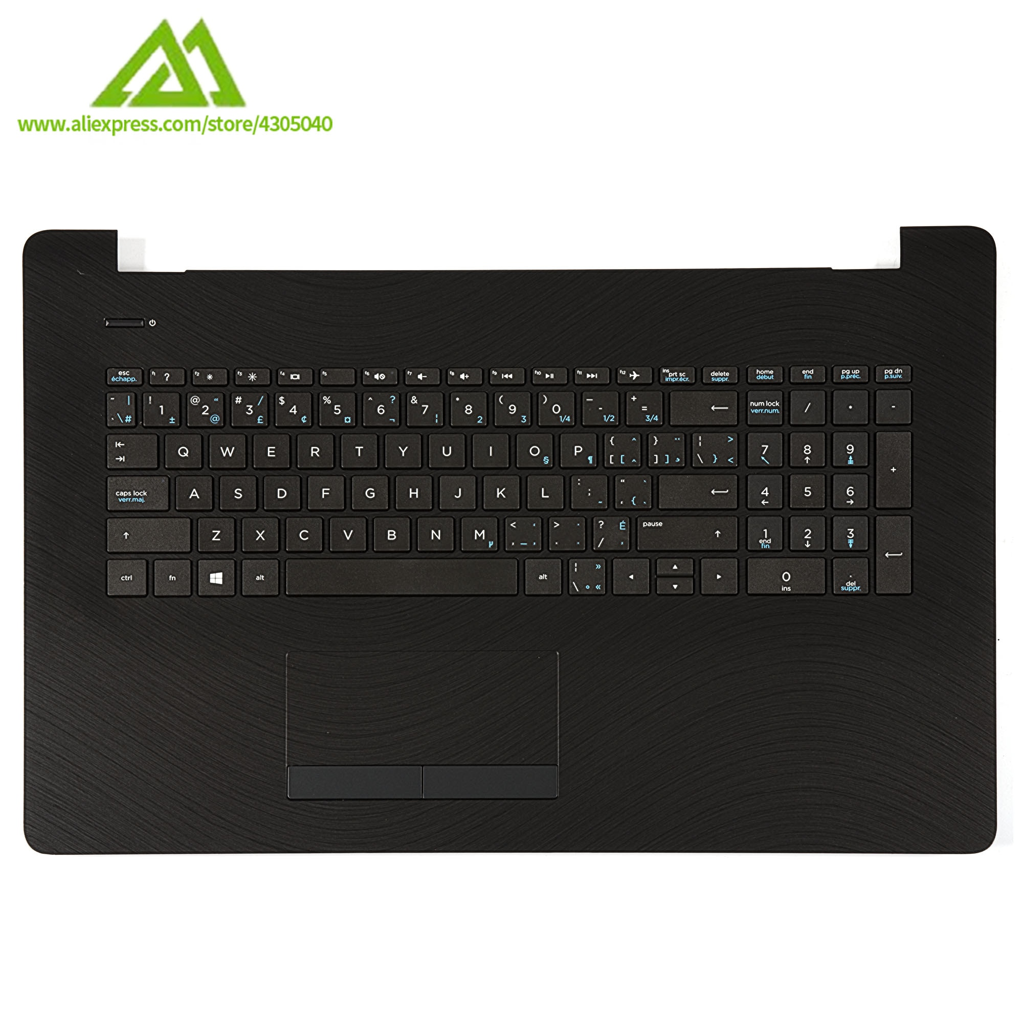 New Original Palmrest Keyboard Bezel With Keyboard For HP Pavilion 17-BS 17-AK 17-AY 17-BR Series 926560-001 C Cover