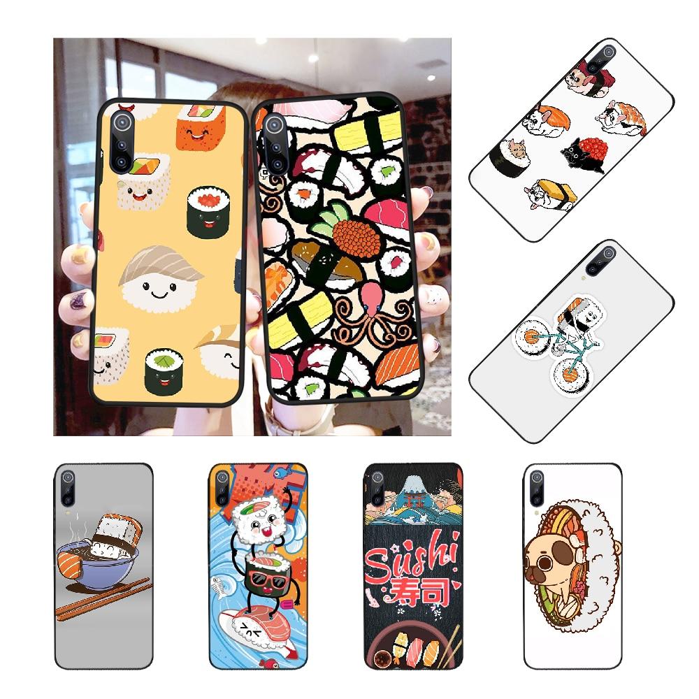 NBDRUICAI Sushi Pug novedad Sushi restaurante suave funda de silicona Teléfono para Redmi Note 8 8A 7 6 6A 5 5A 4 4X 4A Go Pro Plus Prime