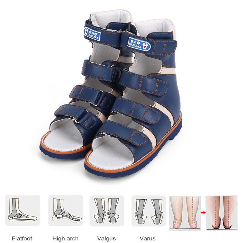 Ortoluckland Orthopedic Shoes For Kids Children Boys Sandals Latest Original High Ankle Toddler Baby Therapy Leather Footwear