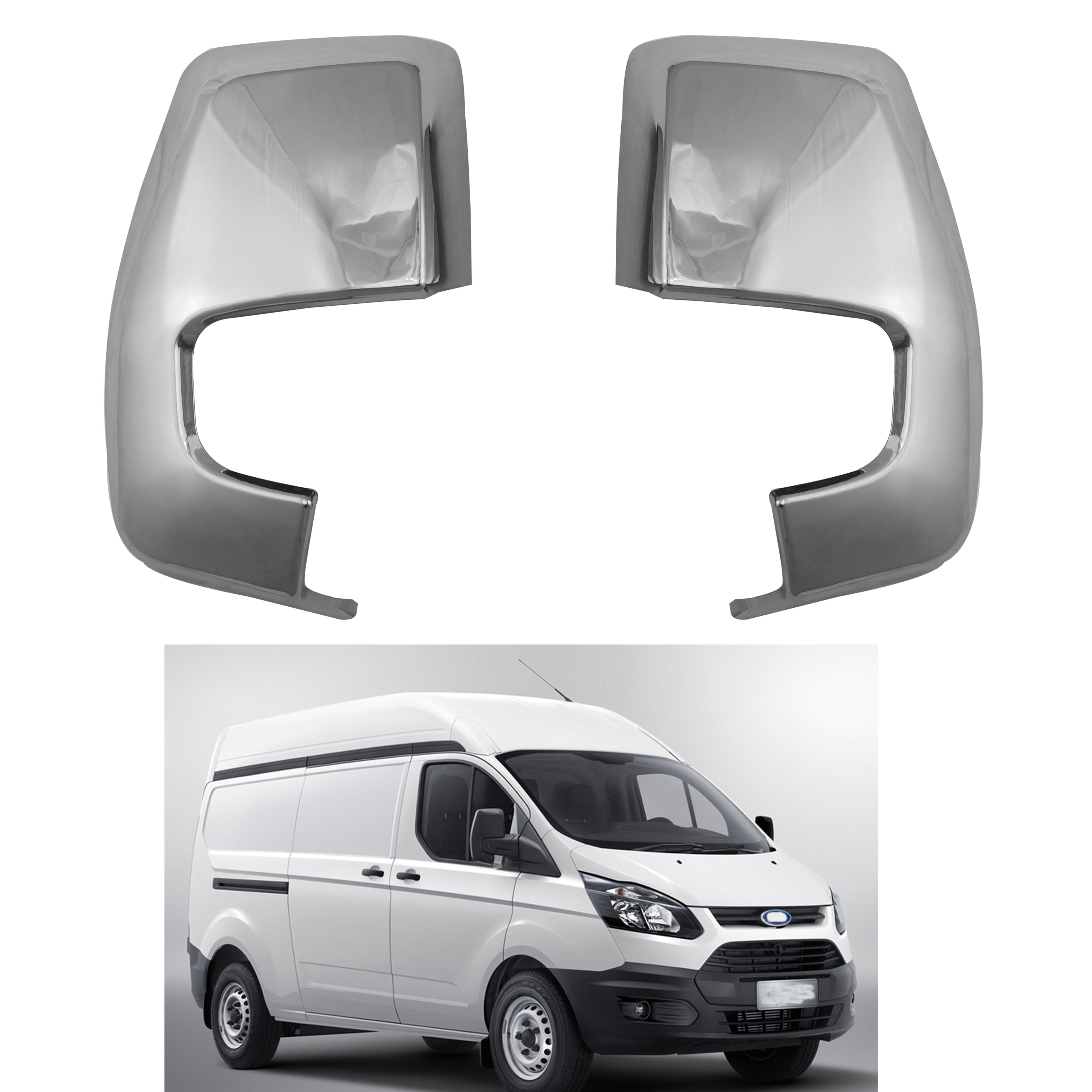2 piezas ABS cromado coche puerta lateral vista trasera espejo cubierta para Ford tránsito Tourneo 2015-2018 exterior del coche trim accesorio