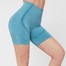 High Waist Women Workout Yoga Shorts Fitness Running Shorts Stretch Push UP Gym Tights Shorts Sportswear Seamless sport