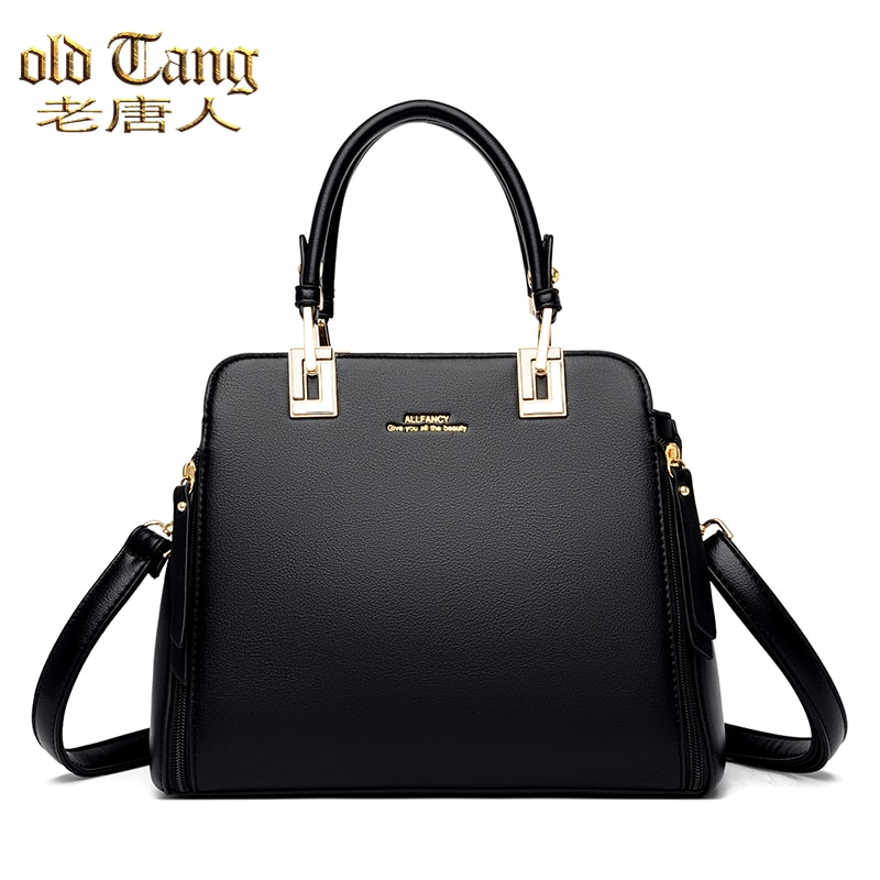 High Quality Vintage Women's Handbags Large Capacity Shoulder Bags for Women 2021 Ladies Leather Bra
